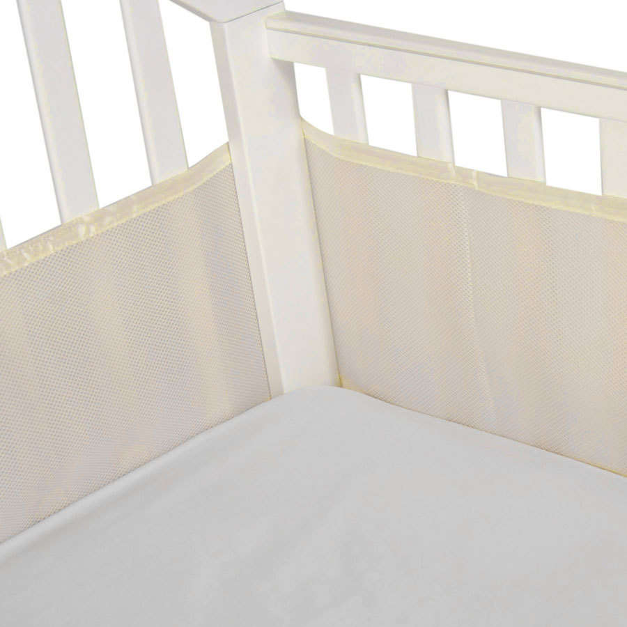 Buy Cot Bumper 3 Sided Cream Latte Piping Online In